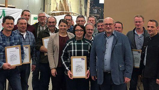 Holz Schiller langjährige Mitarbeiterehrung